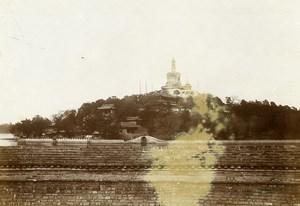 Chine Pékin Beijing Parc Beihai Stupa Blanche Jardin Impérial ancienne Photo 1906