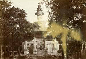 Chine Pékin Beijing Monument Tibetain Temple des Lamas Yonghe ancienne Photo 1906