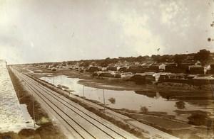 Chine Pékin Beijing Panorama la voie ferrée le long des remparts ancienne Photo 1906