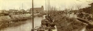 Chine Tianjin Tien-Tsin Canal Église Notre-Dame des Victoires ancienne Photo 1906