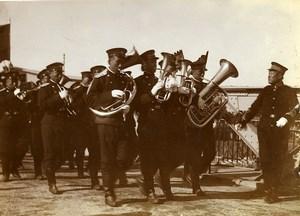 Chine Tianjin Inauguration du Pont Autrichien Musique de la garde du Vice Roi ancienne Photo 1906