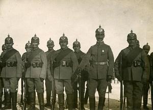 Chine Tianjin Tien-Tsin détachement allemand du Lieutenant Hirtzler ancienne Photo 1906