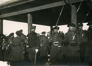 Chine Tianjin Détachement francais pour le départ du general japonais Kamio ancienne Photo 1906