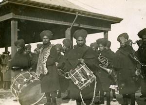 Chine Tianjin Détachement anglais pour le départ du general japonais Kamio ancienne Photo 1906