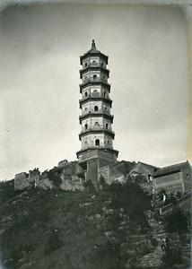 Chine Pékin Beijing pagode Yu Feng Colline de la Fontaine de Jade ancienne Photo 1906