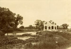 Chine Pékin Beijing Jardins du Palais d'Ete Lac et Ruines ancienne Photo 1906