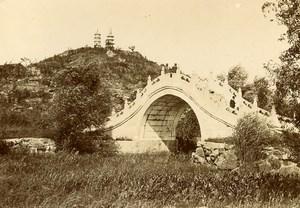 Chine Pékin Beijing Palais d'Ete Pont de la Ceinture de Jade & Pagodes ancienne Photo 1906