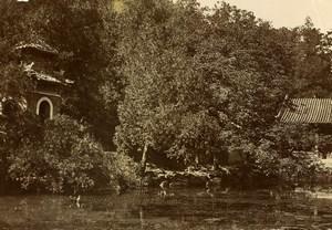 Chine Pékin Beijing Colline de la Fontaine de Jade? Palais d'Ete Ancienne Photo 1906