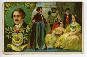 France Chromo Publicitaire Photographe Daguerre inventeur de la photographie 1890