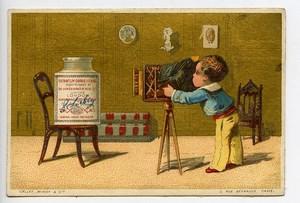 France Compagnie Liebig Chromo Publicitaire recette Photographe 1890