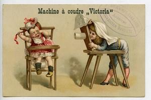 France Machine à Coudre Victoria Chromo Publicitaire Photographe Andenne 1890