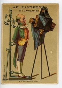France Paris Au Panthéon Nouveautes Chromo Publicitaire Photographe 1890