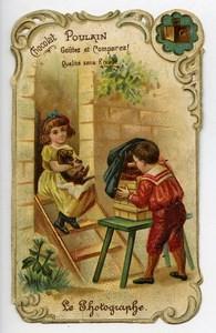 France Chocolat Poulain Advertising Chromo Photographer 1890
