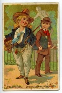 France Bergues Au Bon Marché Chromo Publicitaire Photographe 1890