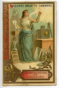 France Cambrai Chicorée Arlatte Chicory Advertising Chromo Photographer 1890