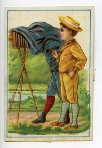France Halluin Au Drapeau Belge Chromo Publicitaire Photographe 1890
