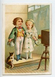 France Paris Maison Delachal Wax Cloth Advertising Chromo Photographer 1890