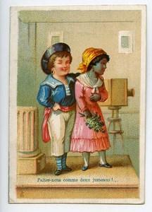 France Paris Maison Delachal Jouets Caoutchouc Chromo Publicitaire Photographe 1890