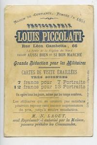 France Lille Chromo Publicitaire Autriche Photographe Louis Piccolati 1890