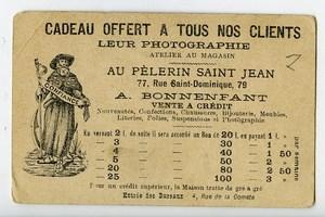 France Paris Au Pelerin Saint Jean Mariage Chromo Publicitaire Photographe 1890