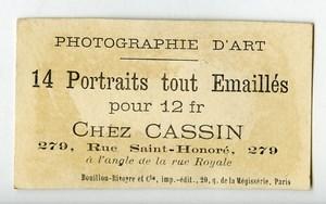 France Paris Chromo Publicitaire Portraits Emailles Photographe Leon Cassin 1890
