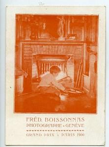 Switzerland Geneva Advertising card Photographer Boissonnas ca 1900