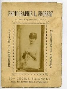 France Lille Carte Publicitaire Opera Cecile Simonnet Photographe Frobert 1900