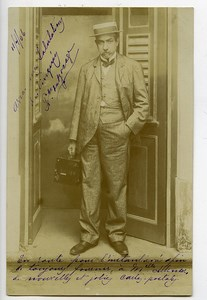 Bresil Pernambouc Carte Postale Photo Photographe et son Appareil F du Bocage 1906