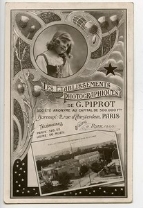 Paris Postcard Photographer Photographic Factory Piprot Marque Etoile 1910