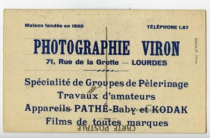 France Lourdes Carte Postale Photographe Viron 1900
