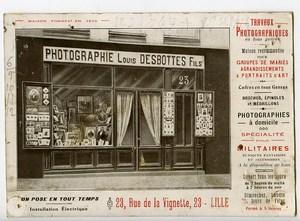 France Lille Carte Publicitaire Photographe Louis Desbottes Fils 1900
