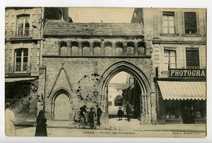 France Dinan Porte des Cordeliers Postcard Photographer shop 1900