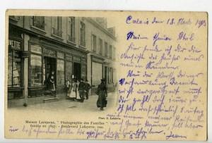 France Calais Boulevard Lafayette Postcard Photographer Lefebvre 1900