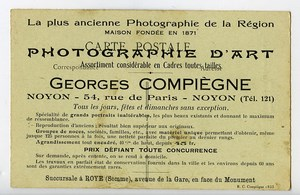France Oise Noyon Postcard Photographer Georges Compiegne 1900