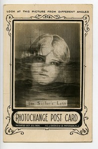 USA Carte Postale Hologramme Sailor's Lass Photochange HC J Deeks 1906