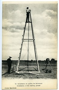 Le Mans Postcard Wright Brothers Launching Tower Photographer Garczinski 1908
