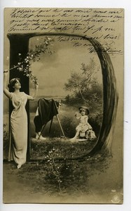 Germany NPG Real Photo Postcard the Model of the Photographer 1900