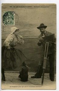 France les Sables d'Olonnes Carte Postale Fantaisie Enfoncé le Photographe 1900