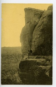 USA Colorado Mesa Verde Spring House Postcard Photographer at Work 1900