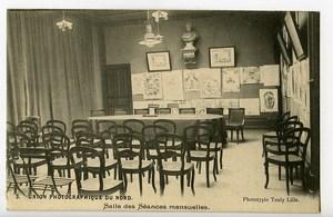 France Lille Carte Postale Union Photographique du Nord Salle des Seances 1900