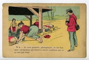 France Humoristic Postcard Photographer & Washerwoman 1900 Xavier Sager