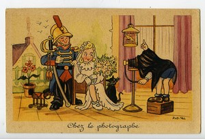 France Humoristic Postcard at the Photographer by Rob Vel 1920