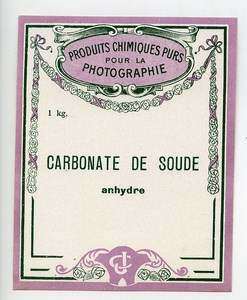 France Paris Photographic Product Label Photo CJ ca 1900