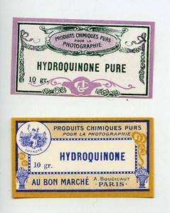 France Paris 2 Photographic Product Hydroquinone Label Photo Au Bon Marché 1900