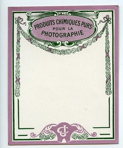 France Paris Photographic Product Blank Label Photo CJ 1900