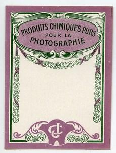 France Etiquette vierge Produits Photographique Photo CJ 1900