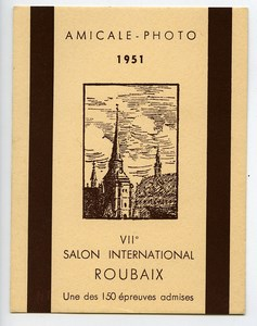France Roubaix Label of VIIe International Photo Exhibition 1951