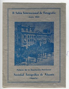 Spain Alicante Label of 2nd International Photo Exhibition 1954