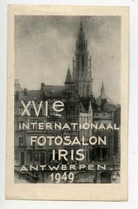 Belgium Antwerpen Label XVIth International Photo Exhibition 1949