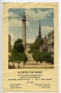 USA Baltimore Label International Photo Exhibition 1954